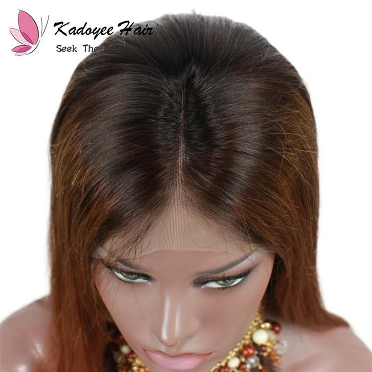 Ombre Brown 1b 30 Straight Bob Wigs Brazilian Virgin