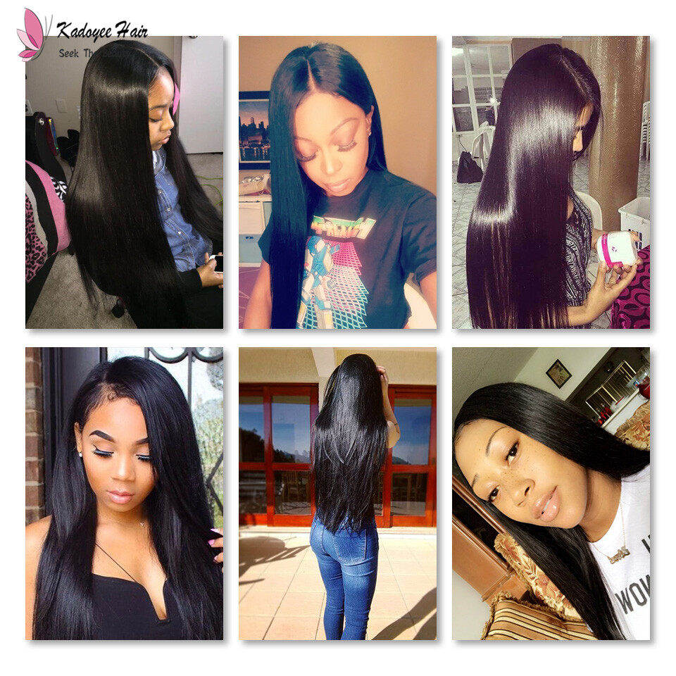 Best Virgin Human Hair Weave Malaysian Silky Straight Remy Hair Extensions 8 30inch Natural Black At Shop