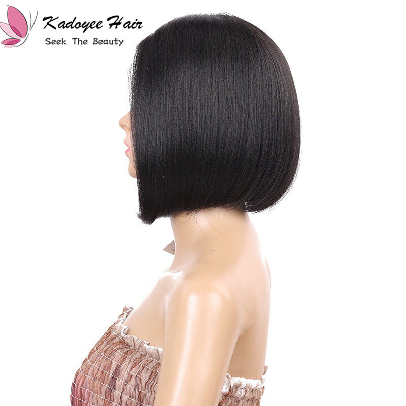 8 Inch Short Bob Straight Synthetic Lace Front Wigs