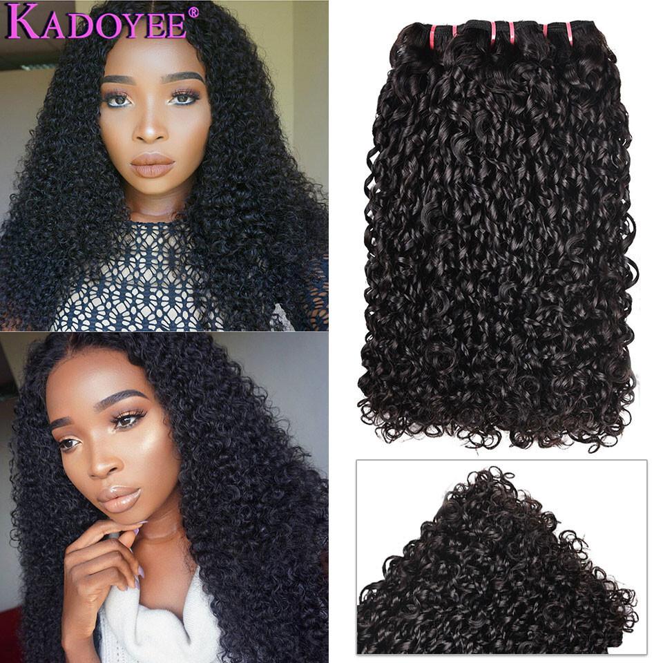 Best Normal Double Drawn Human Hair Pixie Curls Bundles 1/3/4 Hair Weaving Funmi Hair Kinky ...