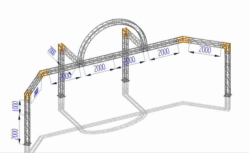 customized aluminum lighting truss | entertainment truss | round lighting truss