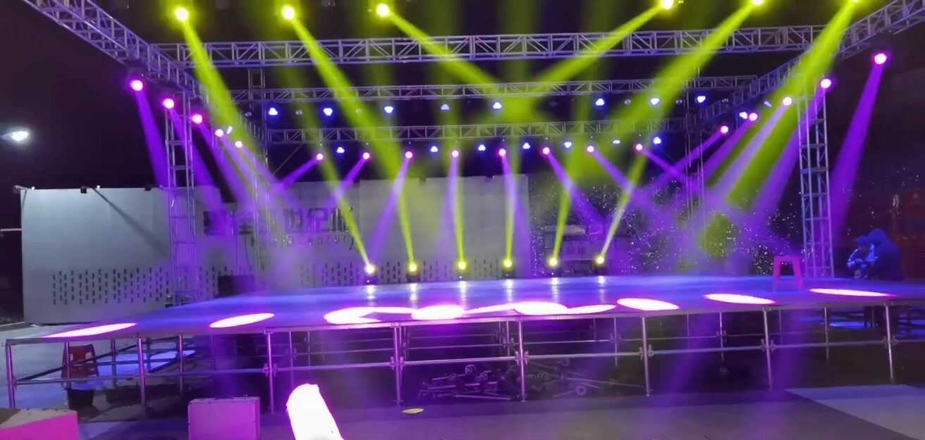 stage truss system | waterproof moving head light | stage platform for event