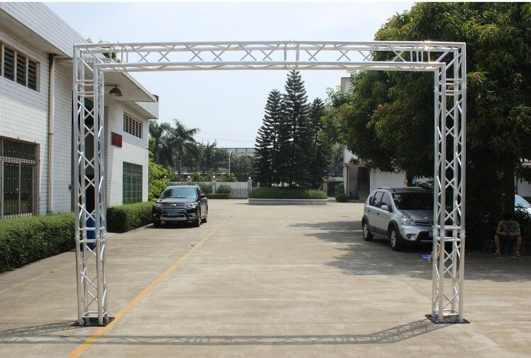 outdoor event lighting truss system | aluminum black lighting truss | aluminum truss system