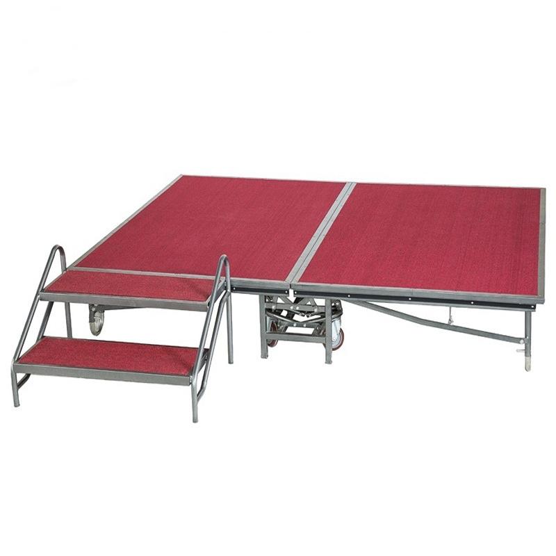 collapsible stage platform   foldable stage platform   4x8 stage riser