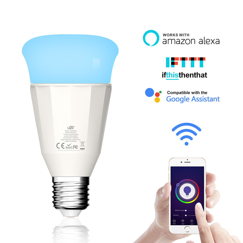 9W Smart Wi-Fi LED Bulb-Multicolor Low-power energy saving light bulbs 9W Smart Wi-Fi LED Bulb-Multicolor Low-power energy saving light bulbs