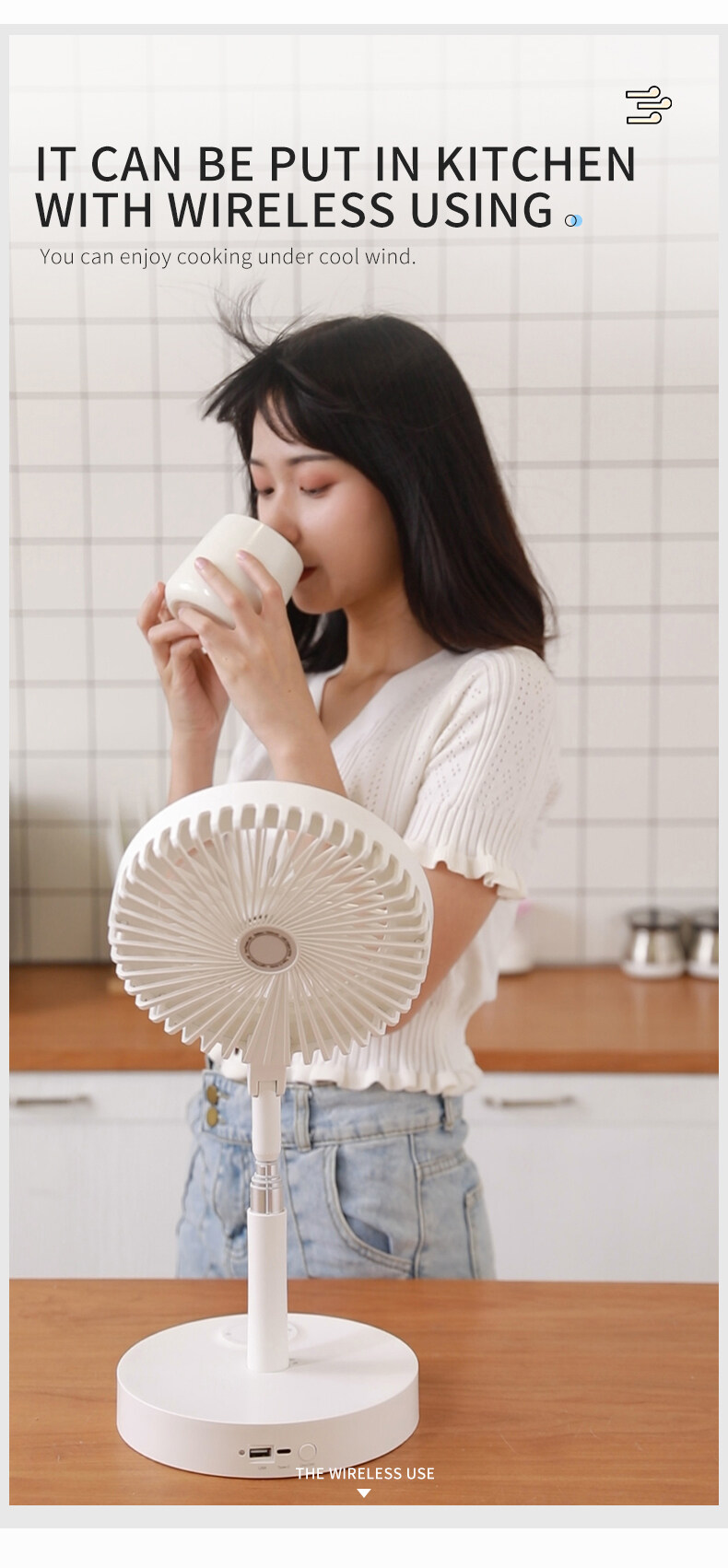 small fan with light
