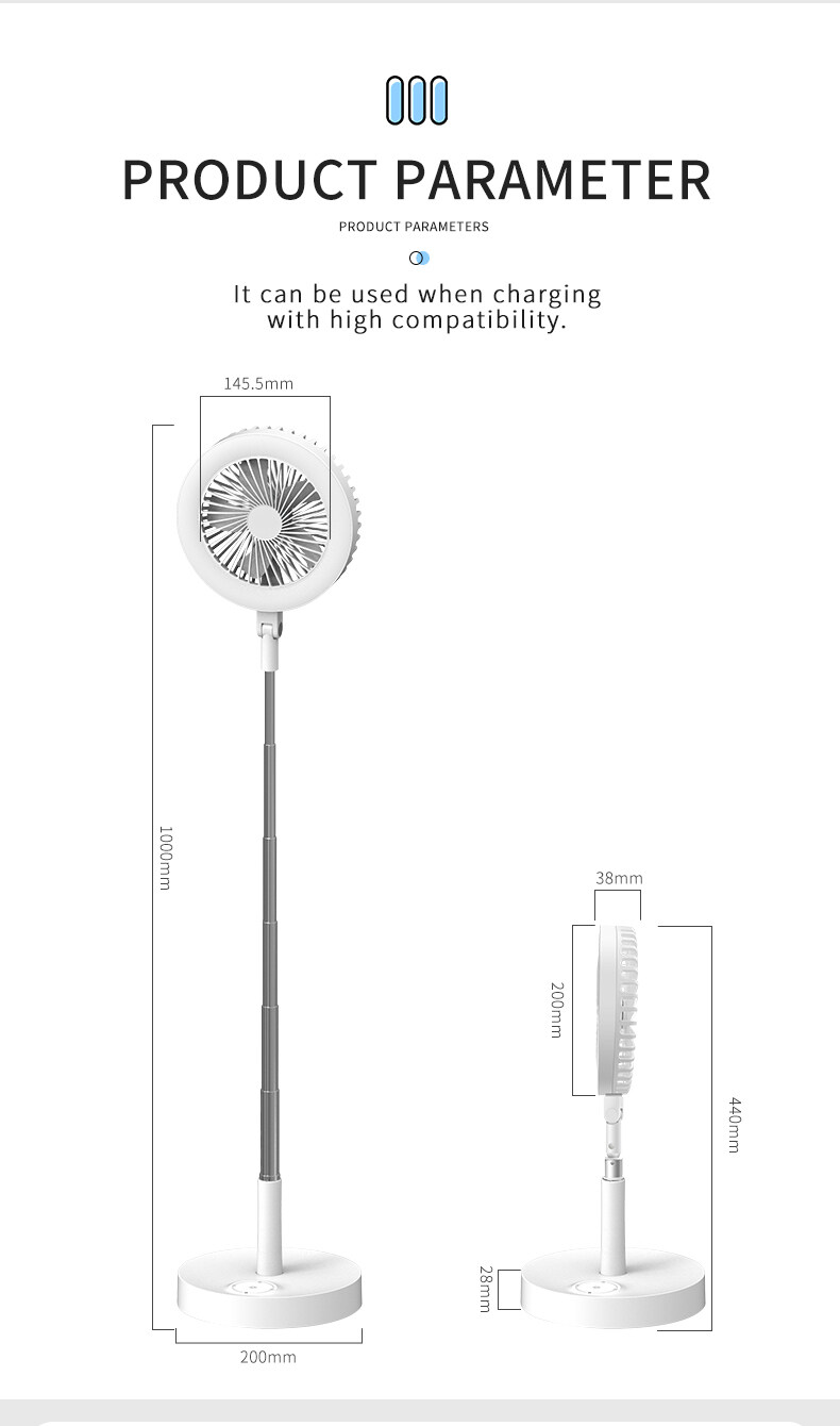 exterior fans with lights