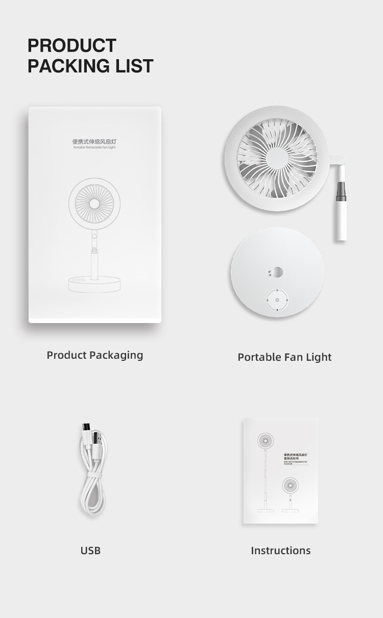 contemporary fan with light