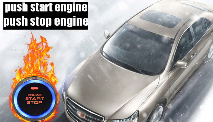 I can not push start car engine when install cardot smart car alarm to my car?