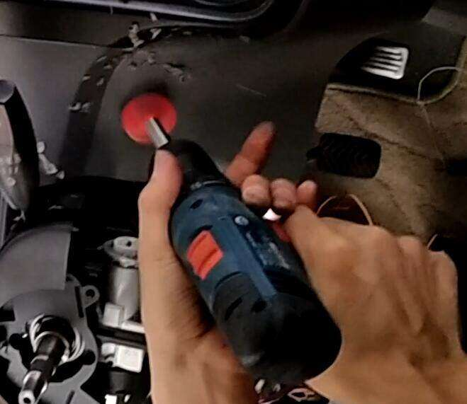 how to drill a hole for start stop button installation?