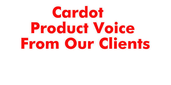 Product working video from cardot customers