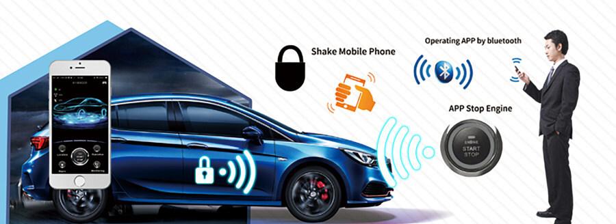 2019 cardot bluetooth pke gsm gps car alarm Functions sharing