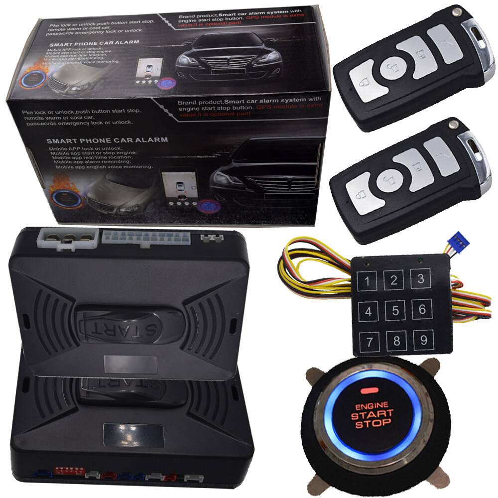 Cardot Top Quality Smart Car Alarm Pke Car Alarm Alarm Car