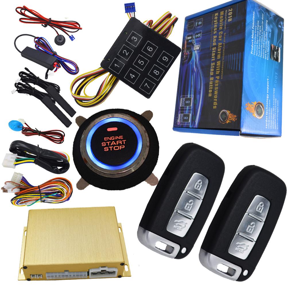 cardot smart anti-hijacking car security alarm system remote engine start  stop precool or prewarm car passwords protection