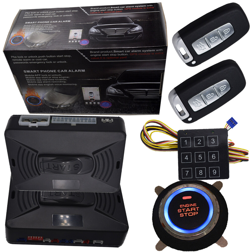 Cardot Top Quality Smart Car Alarm Pke Car Alarm Alarm Car