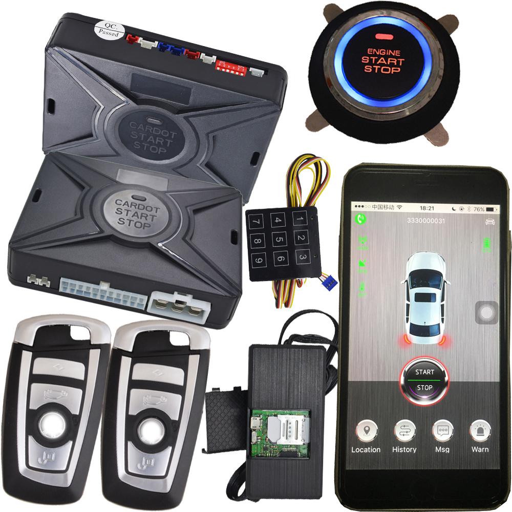 Vehicle Phone Systems : Cardot top quality smart car alarm pke