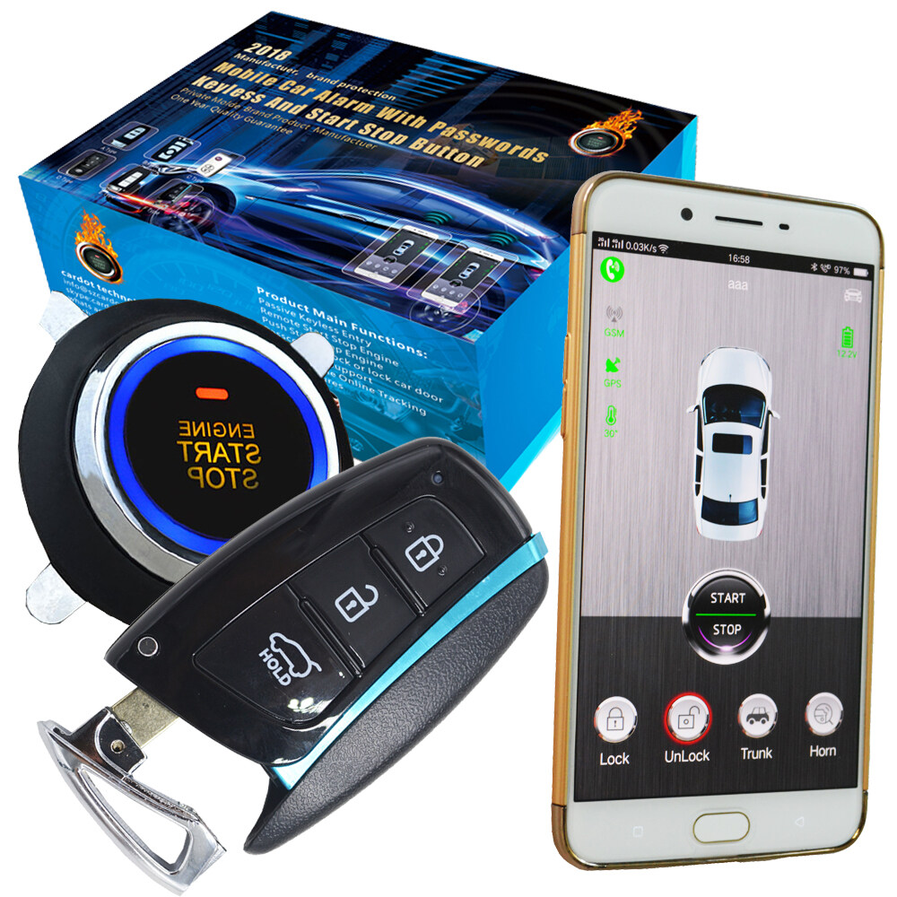cardot top quality smart car alarm pke car alarm alarm car car alarm3g gsm manual car alarm system automatic close car window up output unlock cell phone auto; 3g