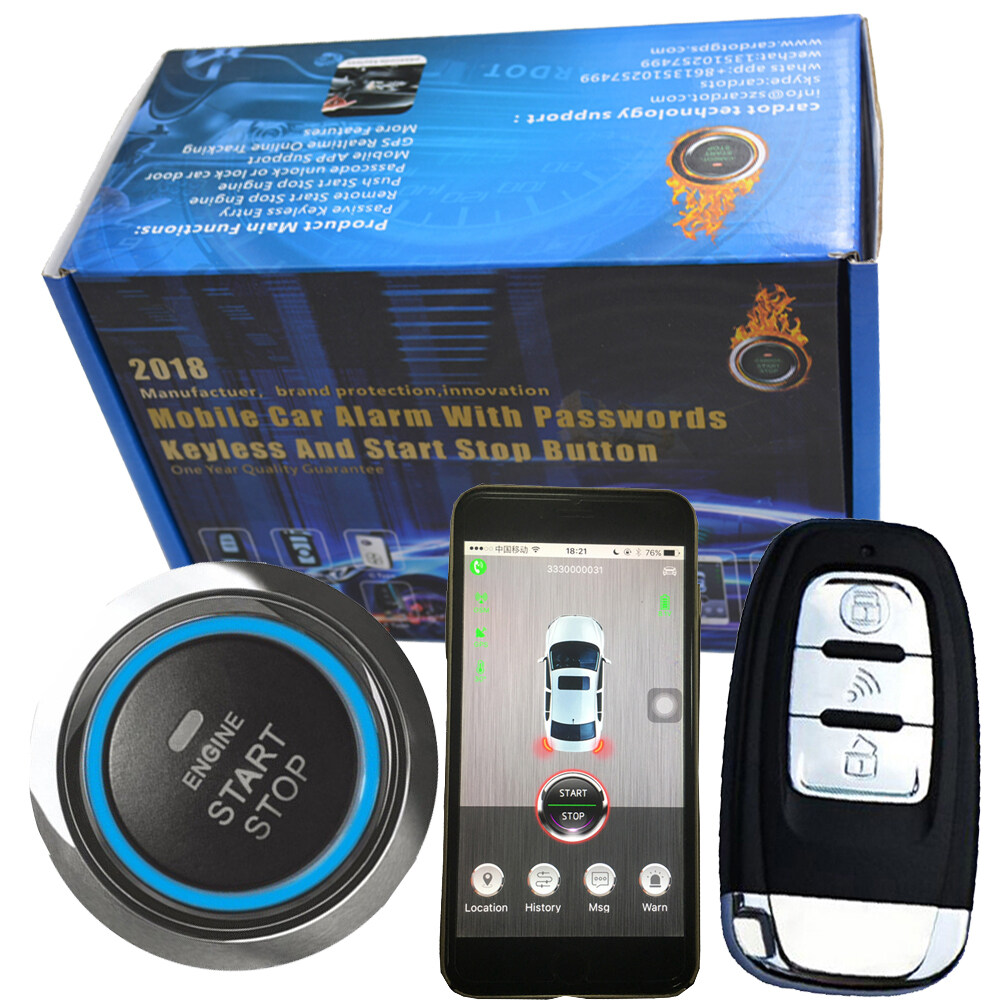 Remote Car Starter App >> Bluetooth Car Remote Code Grabber Car Alarm System Mobile Phone Sms Or App Cut Car Oil Anti Hijacking Engine Start Stop