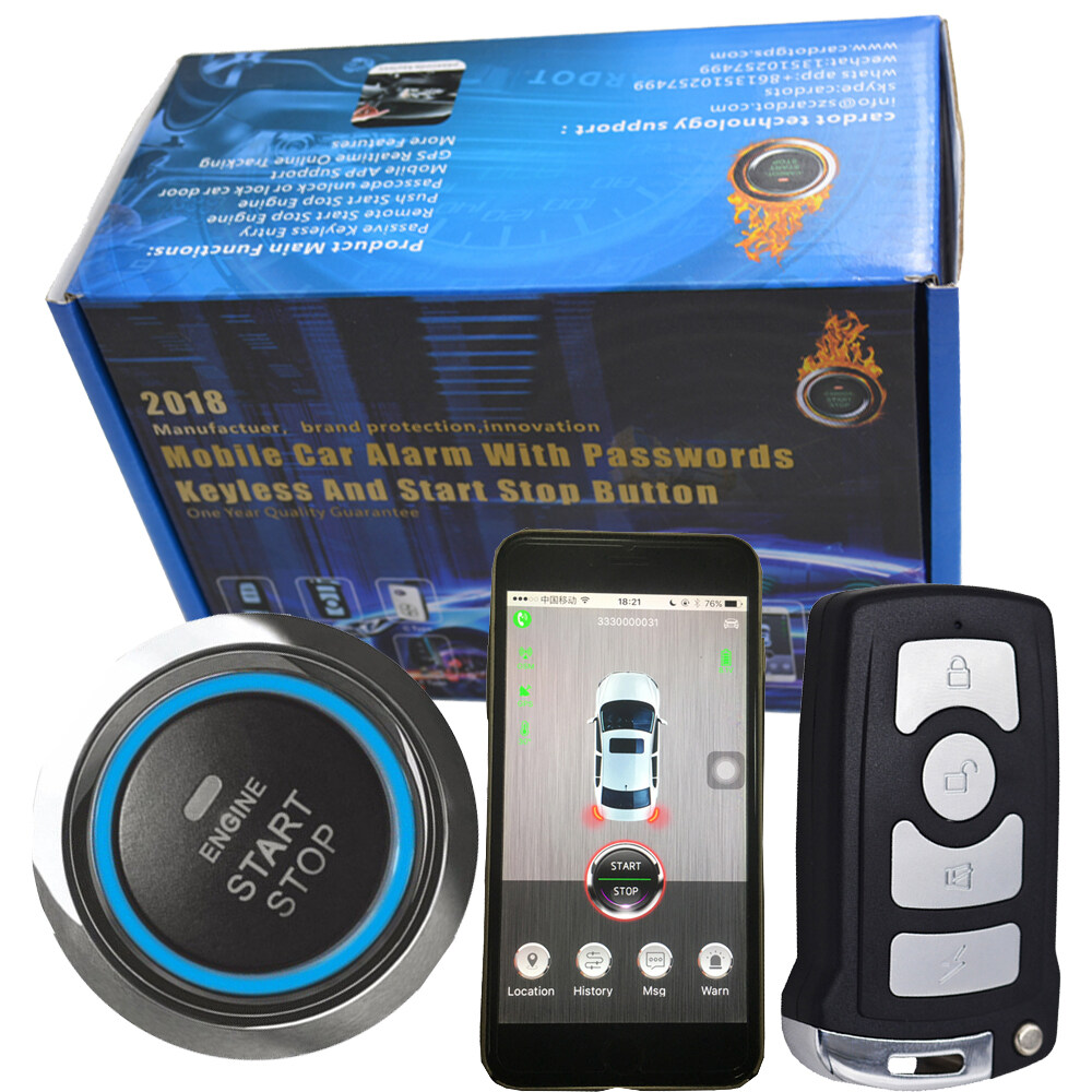 43392mhz 2 transmitters pke car alarm system with push button. Black Bedroom Furniture Sets. Home Design Ideas