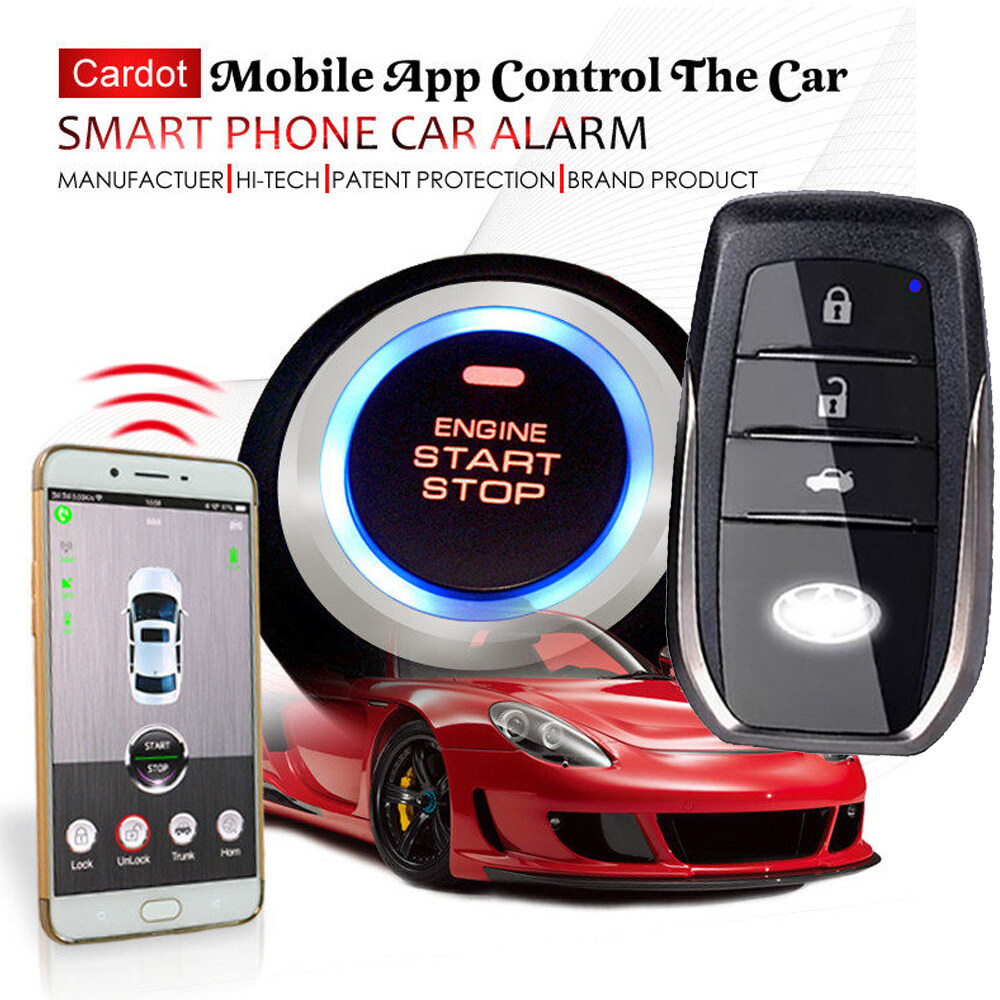 Cardot Top Quality Smart Car Alarm Pke Car Alarm Alarm Car Car Alarm