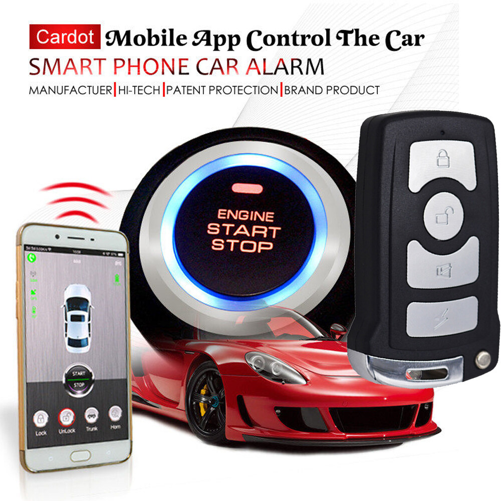 Remote Car Starter App >> Gsm Gps Smart Phone App Start Stop Remote Control Car Alarm And Tracking System Vehicle Tracking Smart Key Keyless Entry