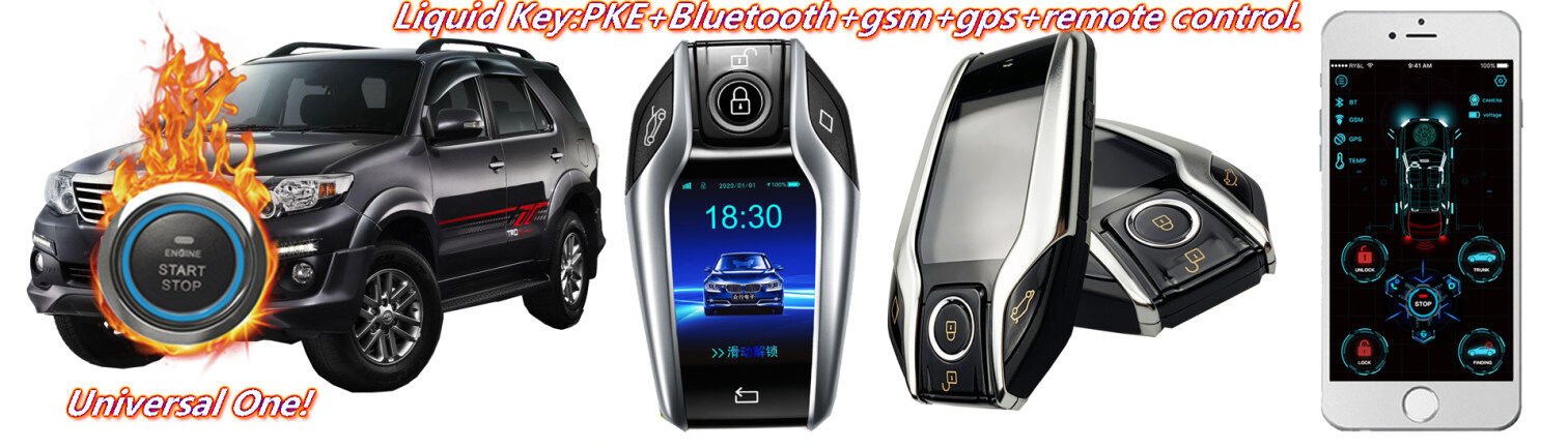 Liquid Crystal Remote GSM GPS Car Alarm