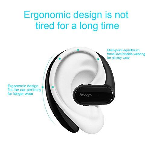 Atongm Bluetooth Headset Wireless Earpiece V4 1hands Microphone With 10 Hours Talking Time 1 5 Hours Fast Charge For Business Office Driving Work For Iphone Samsung Android Cell Phone