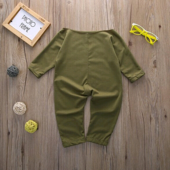 7d2c6e7bc1e3 ... Newborn Infant Baby Girls Clothes Long Sleeve Off Shoulder Romper  Jumpsuit (0-24 months