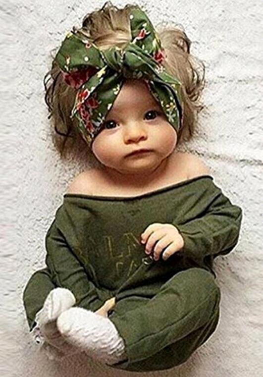 3d5a048456e5 1 4. 1. Newborn Infant Baby Girls Clothes Long Sleeve Off Shoulder Romper  Jumpsuit (0-24 months ...