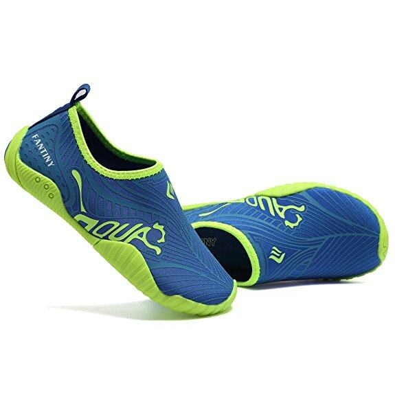 CIOR Kids Water Shoes Quick-Dry Boys and Girls Slip-On Aqua Beach Sneakers (Toddler/Little Kid/Big Kid),VY03-3blue 2