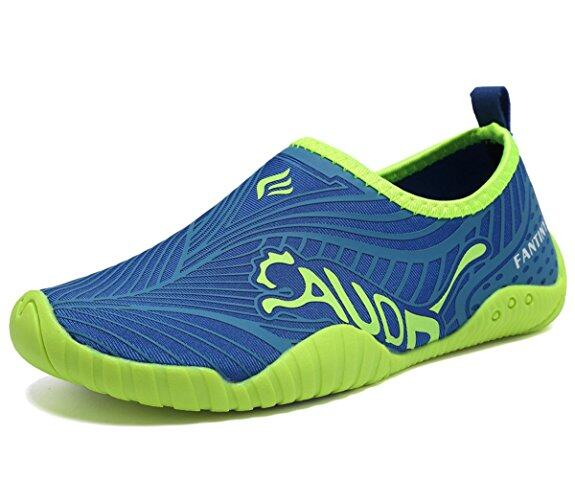 CIOR Kids Water Shoes Quick-Dry Boys and Girls Slip-On Aqua Beach Sneakers (Toddler/Little Kid/Big Kid),VY03-3blue 0