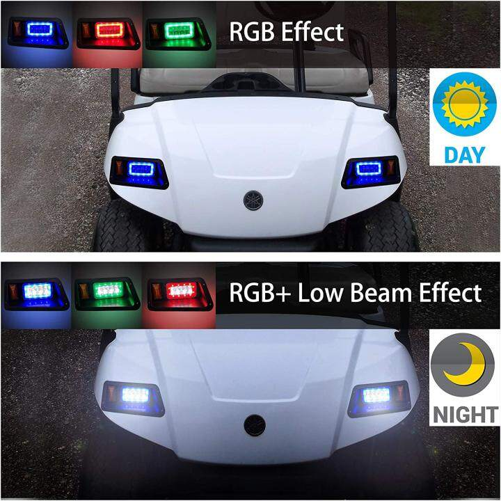 LED Light Kit with RGB Daytime Running Light for Yamaha G14, G16, G19, G22