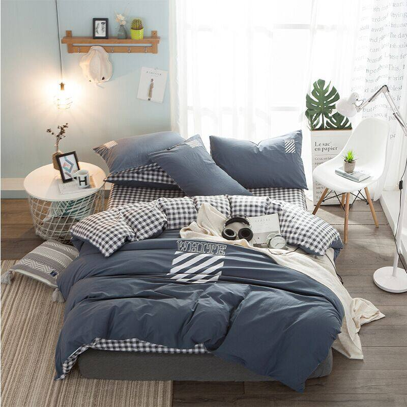 High Quality 3/4pc Bedding Set duvet Cover+beds sheet+pillowcase High quality luxury soft comefortable 0