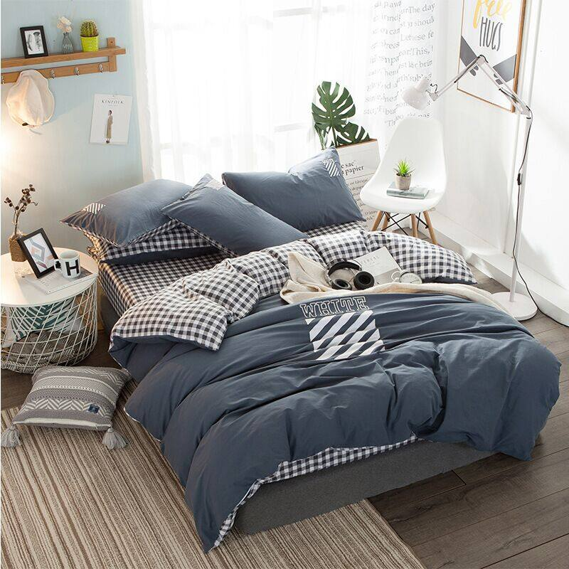 High Quality 3/4pc Bedding Set duvet Cover+beds sheet+pillowcase High quality luxury soft comefortable 2