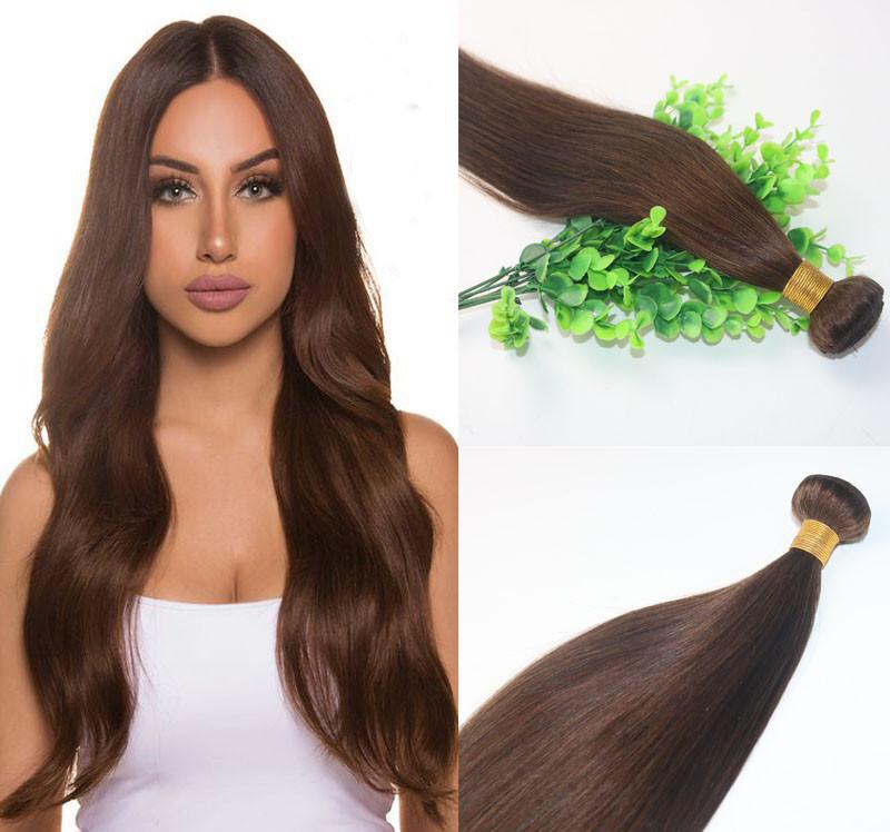 Dark Brown 4 Brazilian Hair Bundles 10 30 Human Hair Extensions