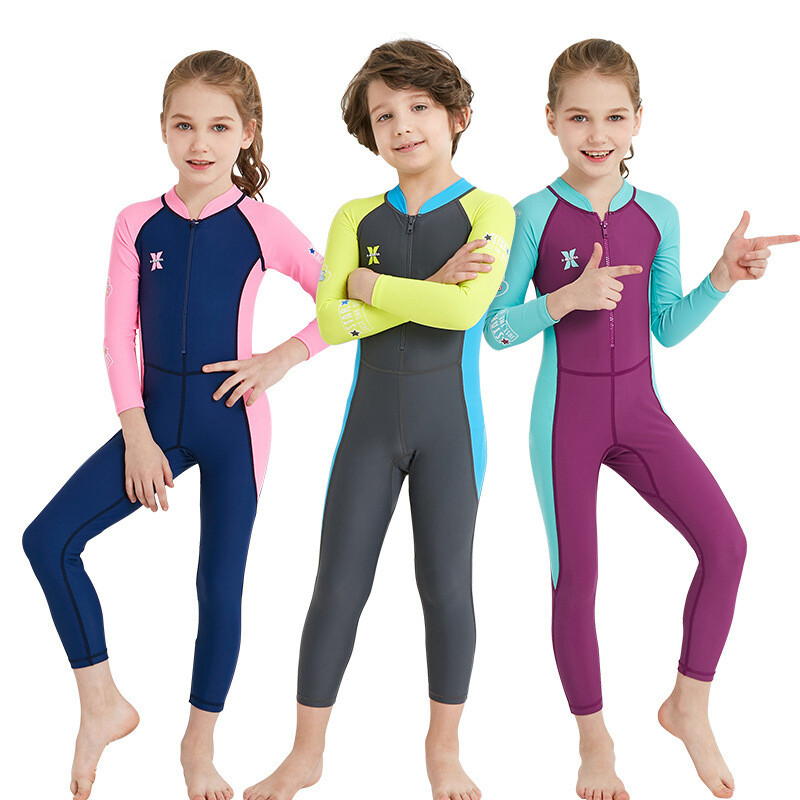 cdba8c5ac4 Kids Quick Dry Full Body UV Swimsuit Swimwear Rash Guard Bathing Suit