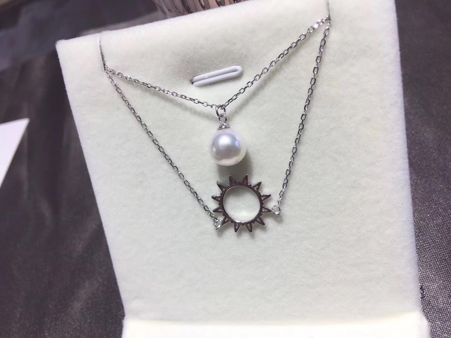 Pearl Jewelry Pendant Mounts with Chain ,Real Sterling Silver 925  0