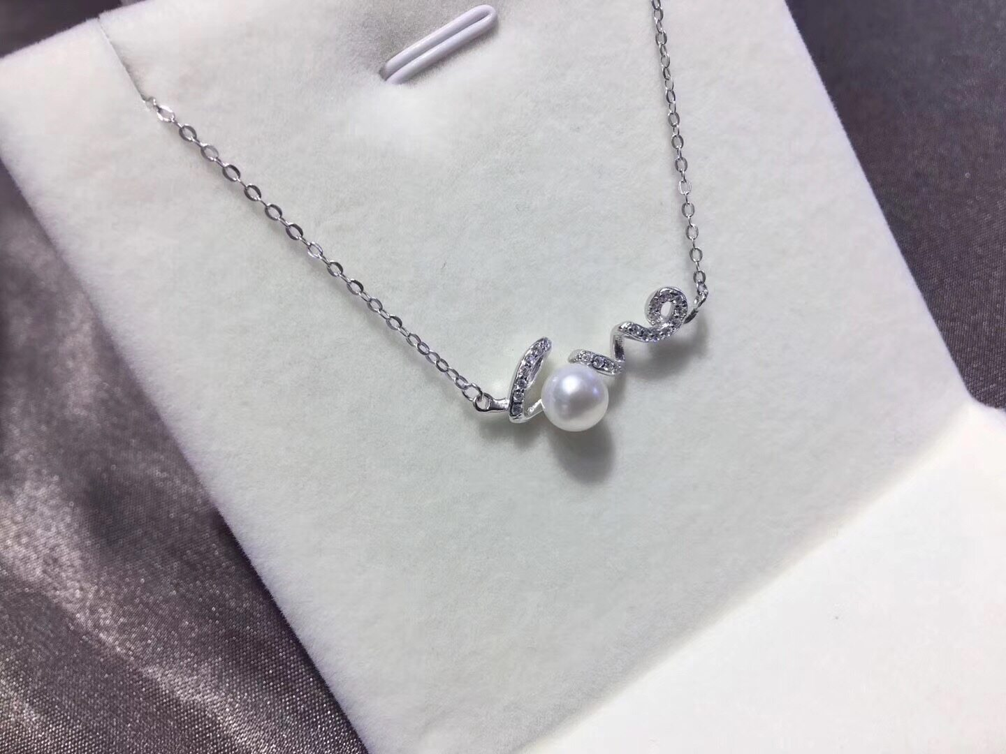 Pearl Jewelry Pendant Mounts with Chain,Real Sterling Silver 925  1