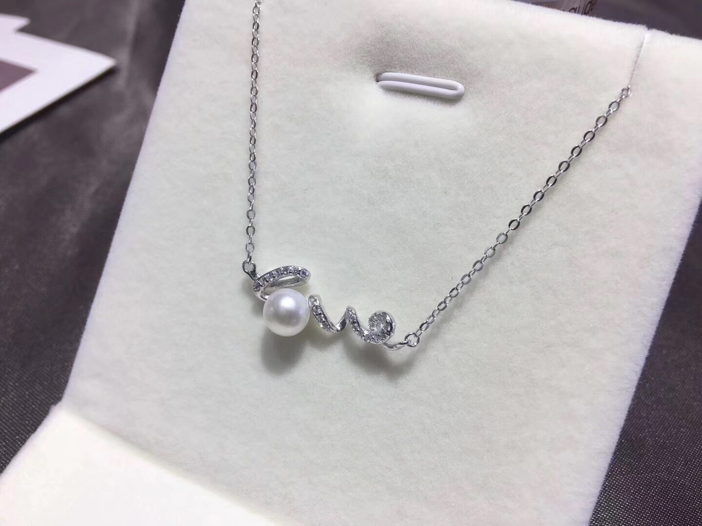 Pearl Jewelry Pendant Mounts with Chain,Real Sterling Silver 925  2