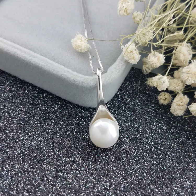 Pearl Jewelry Pendant Mounts ,Real Sterling Silver 925  1