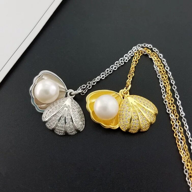 Pearl Jewelry Pendant Mounts ,Real Sterling Silver 925  3