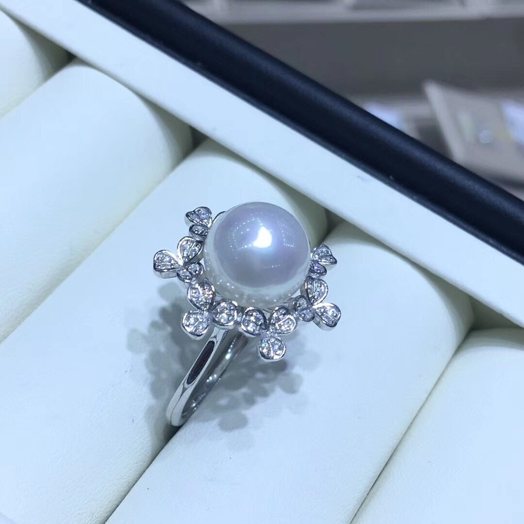 Pearl Jewelry Ring Mounts,Real Sterling Silver 925 Ring  1
