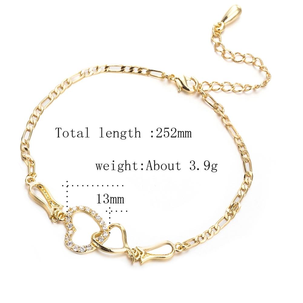 Women Crystal Barefoot Sandal Beach Anklet Foot Toe Chain Jewelry Ankle Bracelet JL0003-J-B 0