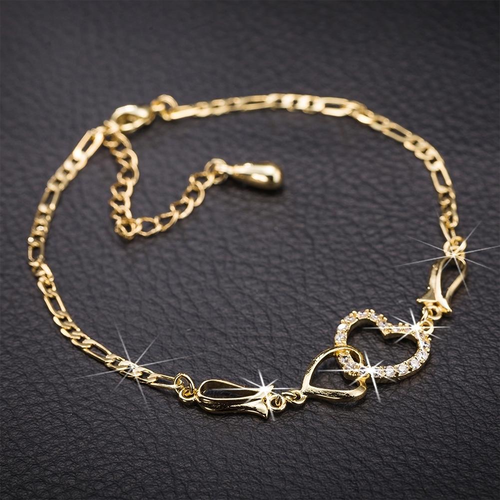 Women Crystal Barefoot Sandal Beach Anklet Foot Toe Chain Jewelry Ankle Bracelet JL0003-J-B 2
