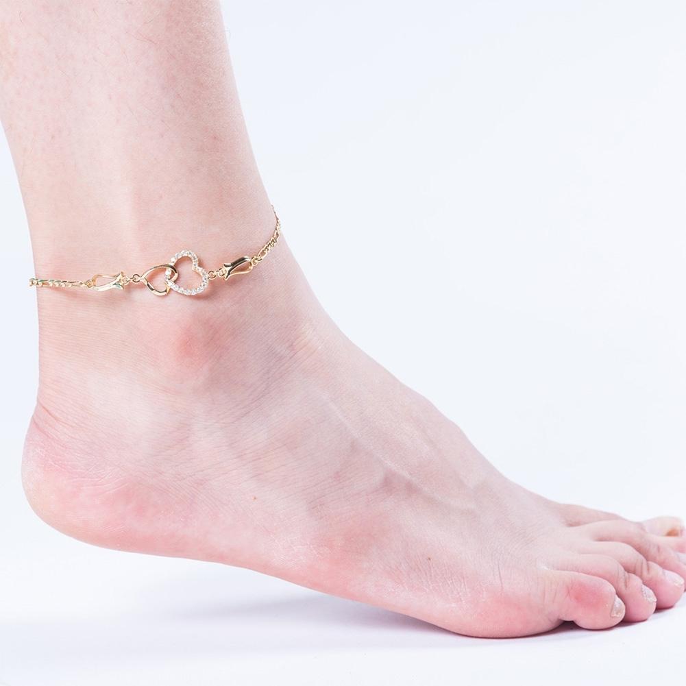 Women Crystal Barefoot Sandal Beach Anklet Foot Toe Chain Jewelry Ankle Bracelet JL0003-J-B 3