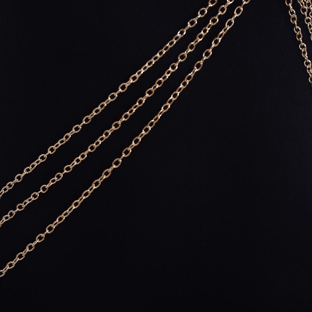 Womens Harness Body Chest Belly Waist Chain Necklace Beach Bikini Jewelry Silver BAP0013 1