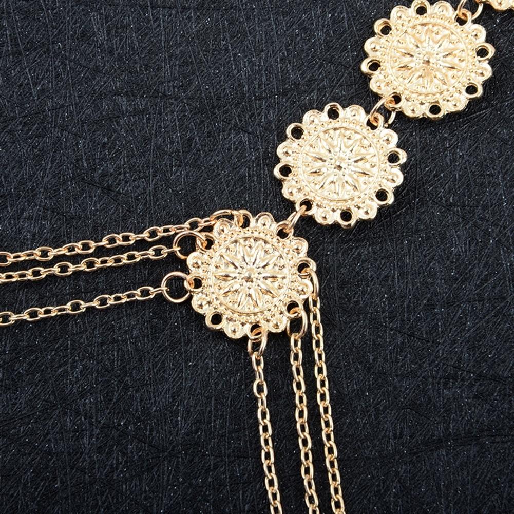 Womens Harness Body Chest Belly Waist Chain Necklace Beach Bikini Jewelry Silver BAP0013 2