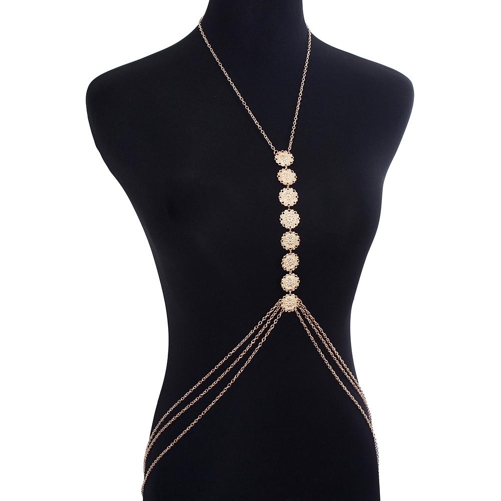 Womens Harness Body Chest Belly Waist Chain Necklace Beach Bikini Jewelry Silver BAP0013 3