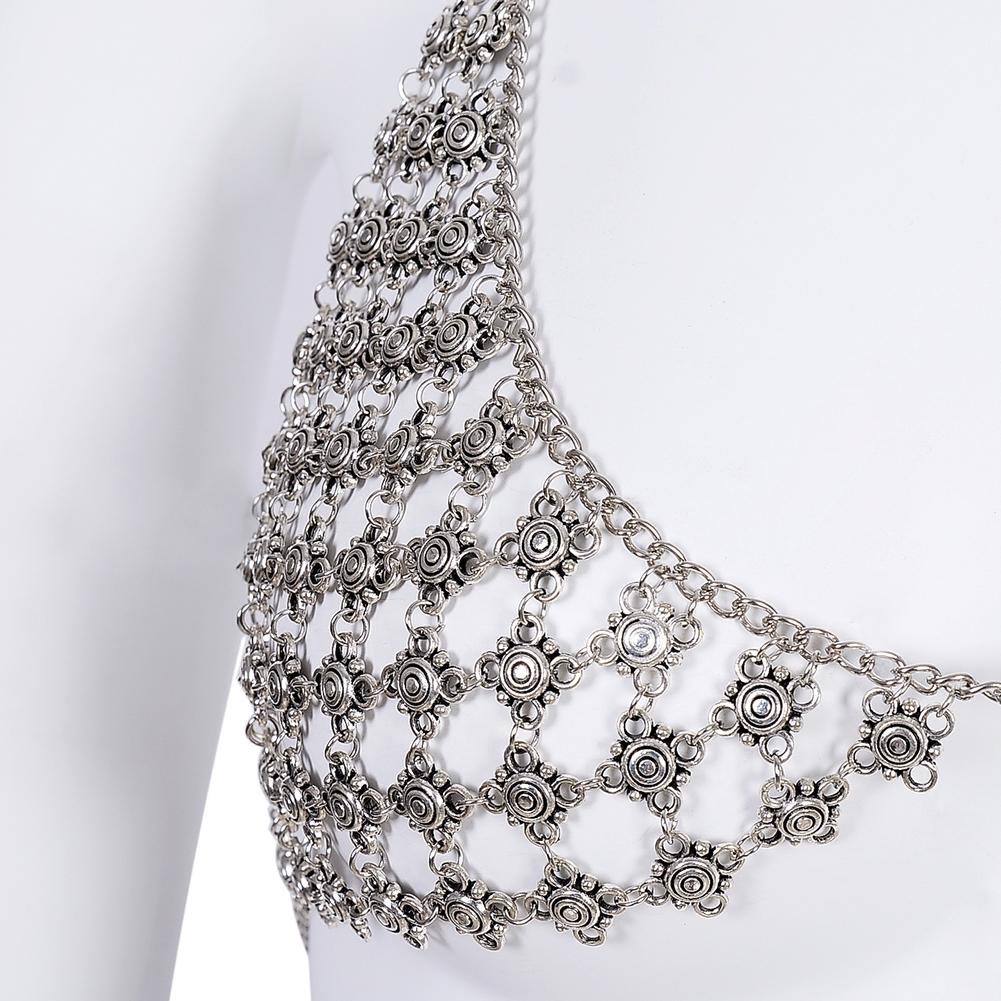 New Imixlot Body Bra Bikini Sexy Chain Women Statement Metal Bra Chain Bralette Beach Party Harness Necklace Jewelry BAP0033 5