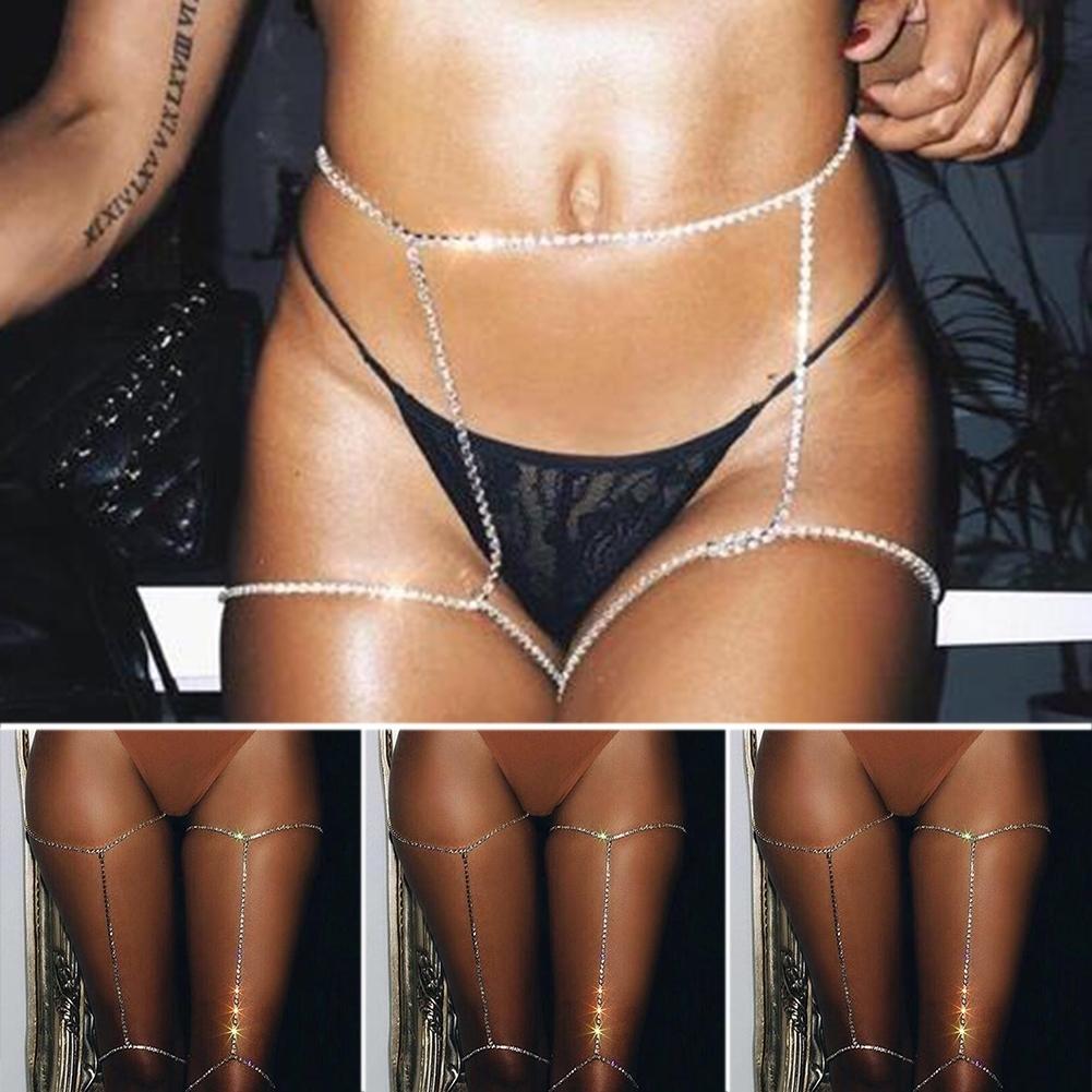 New Women Shiny Crystal Rhinestone Bra Chest Body Chains Bikini Fashion Jewelry BAP0018@ 2
